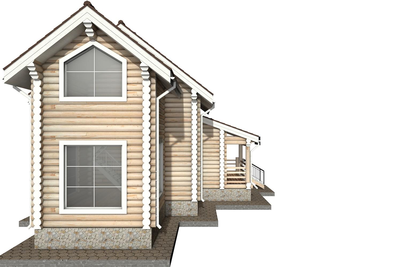 Фото #7: Красивый деревянный дом РС-36 из бревна