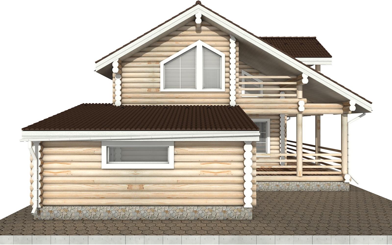 Фото #7: Красивый деревянный дом РС-37 из бревна