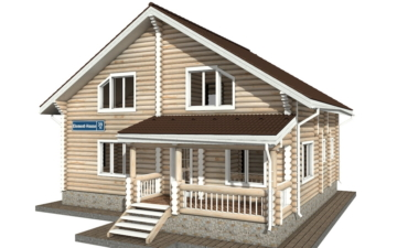 Фото #2: Красивый деревянный дом РС-39 из бревна