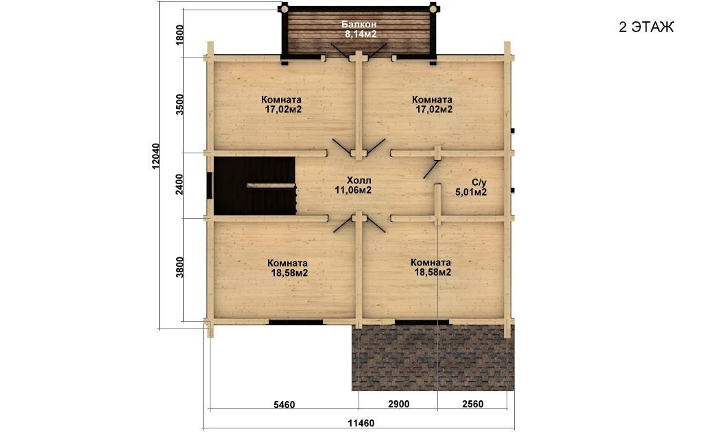 Фото #5: Красивый деревянный дом РС-39 из бревна