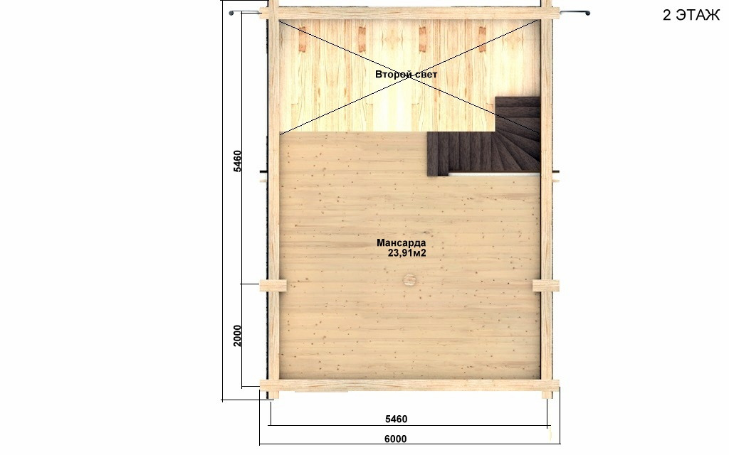 Фото #3: Красивый деревянный дом РС-88 из бревна