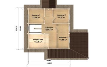 Фото #3: Красивый деревянный дом РС-124 из бревна