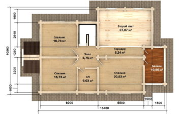 Фото #5: Красивый деревянный дом РС-125 из бревна