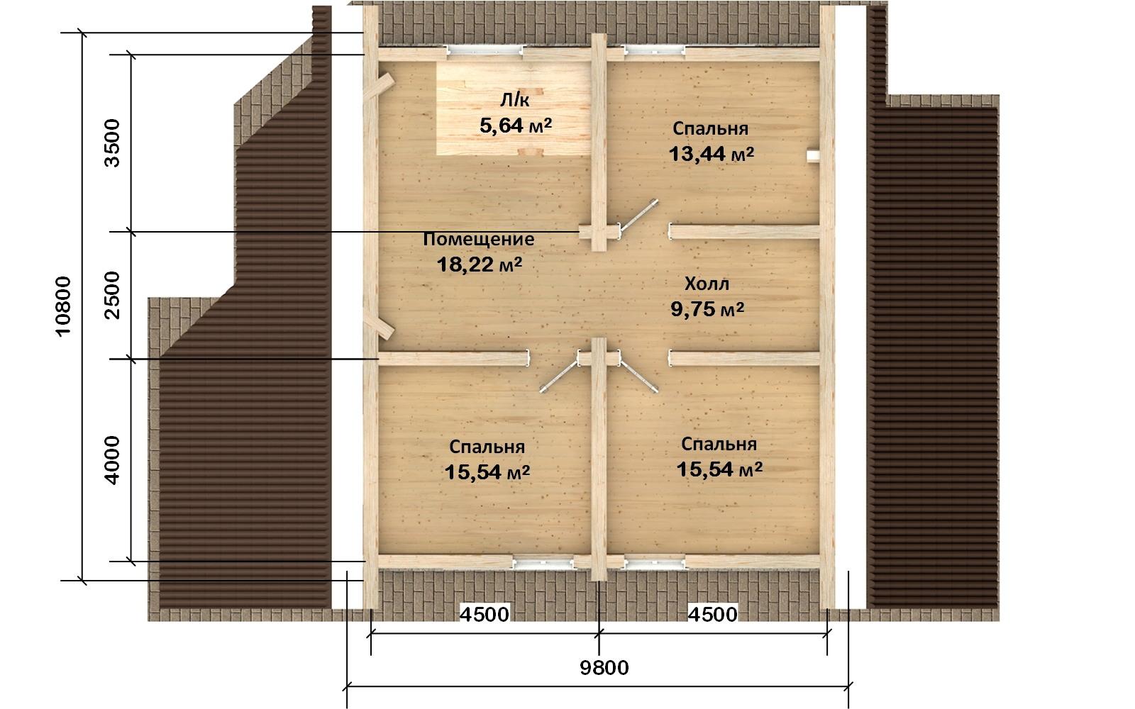Фото #3: Красивый деревянный дом РС-119 из бревна