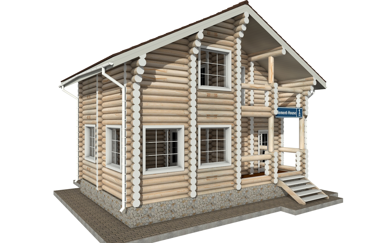 Фото #4: Красивый деревянный дом РС-1 из бревна