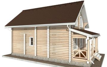 Фото #6: Красивый деревянный дом РС-57 из бревна