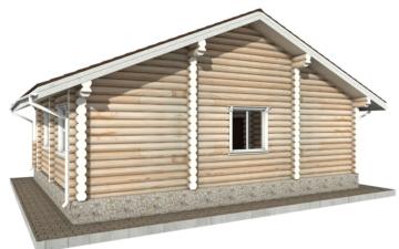Фото #6: Красивый деревянный дом РС-58 из бревна
