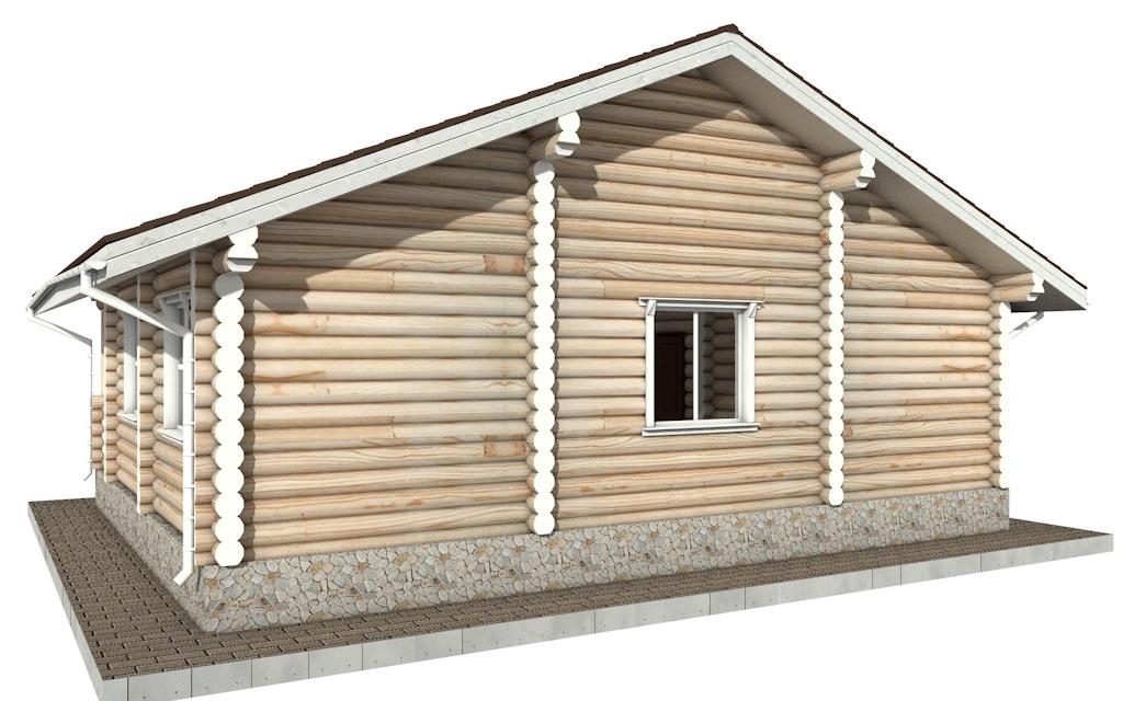 Фото #4: Красивый деревянный дом РС-58 из бревна