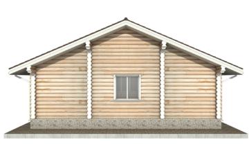 Фото #9: Красивый деревянный дом РС-58 из бревна