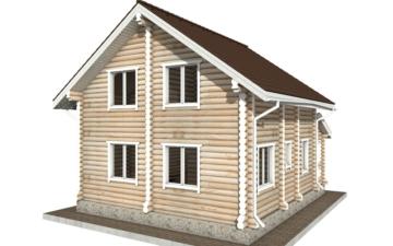 Фото #6: Красивый деревянный дом РС-59 из бревна
