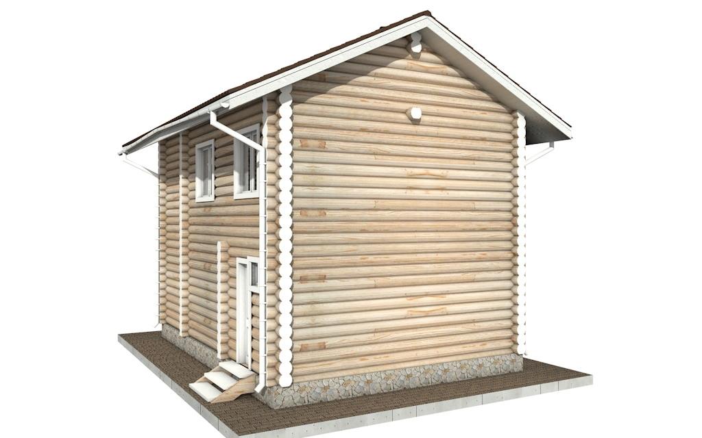 Фото #5: Красивый деревянный дом РС-60 из бревна