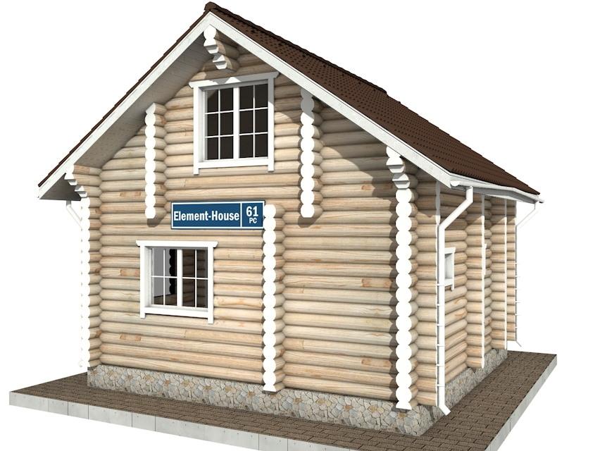 Фото #3: Красивый деревянный дом РС-61 из бревна