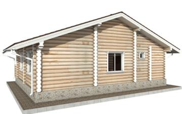 Фото #6: Красивый деревянный дом РС-62 из бревна