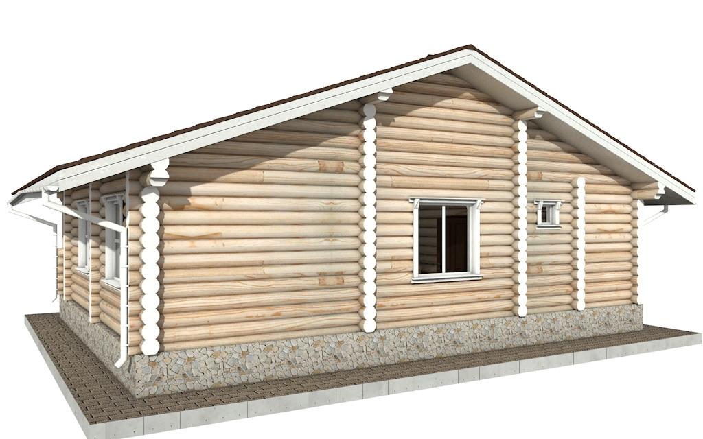 Фото #4: Красивый деревянный дом РС-62 из бревна