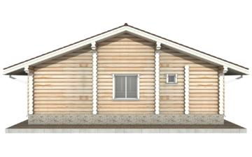 Фото #9: Красивый деревянный дом РС-62 из бревна