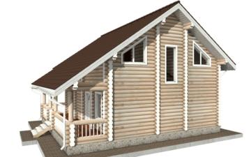 Фото #3: Красивый деревянный дом РС-63 из бревна