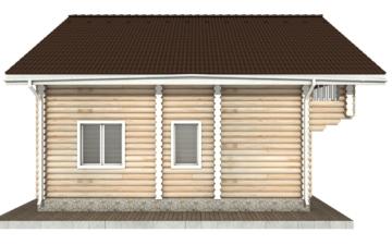 Фото #9: Красивый деревянный дом РС-63 из бревна