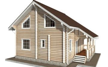 Фото #6: Красивый деревянный дом РС-64 из бревна