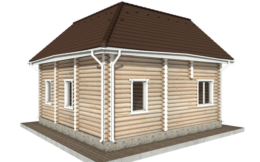 Фото #5: Красивый деревянный дом РС-65 из бревна