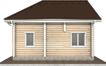 Фото #9: Красивый деревянный дом РС-65 из бревна