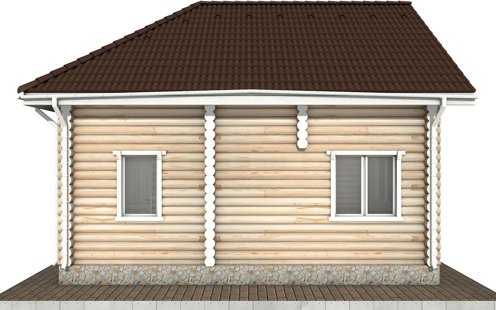 Фото #8: Красивый деревянный дом РС-65 из бревна