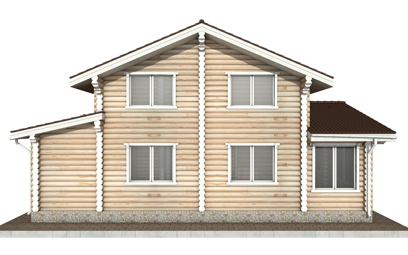 Фото #8: Красивый деревянный дом РС-66 из бревна