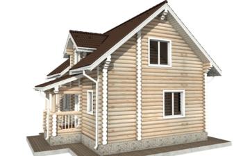 Фото #3: Красивый деревянный дом РС-67 из бревна