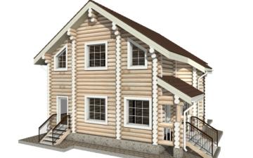 Фото #3: Красивый деревянный дом РС-7 из бревна