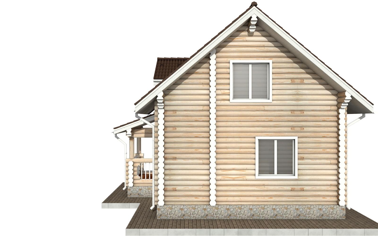 Фото #8: Красивый деревянный дом РС-67 из бревна