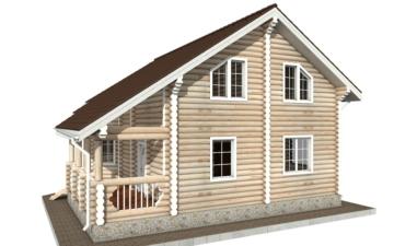 Фото #6: Красивый деревянный дом РС-68 из бревна
