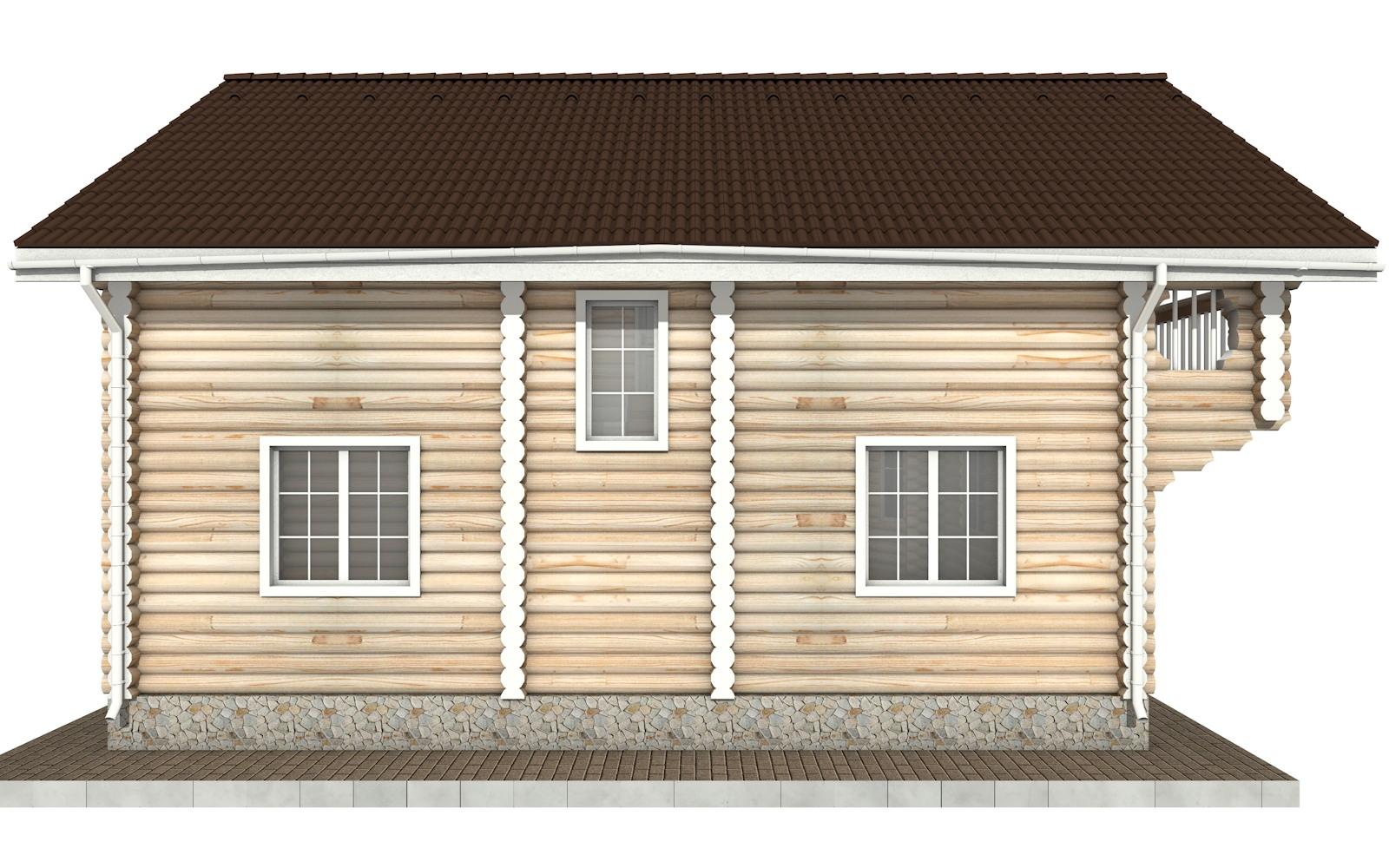 Фото #8: Красивый деревянный дом РС-68 из бревна