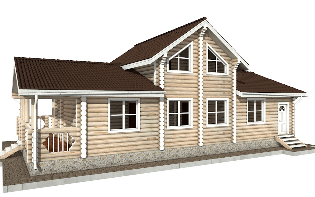Фото #3: Красивый деревянный дом РС-69 из бревна