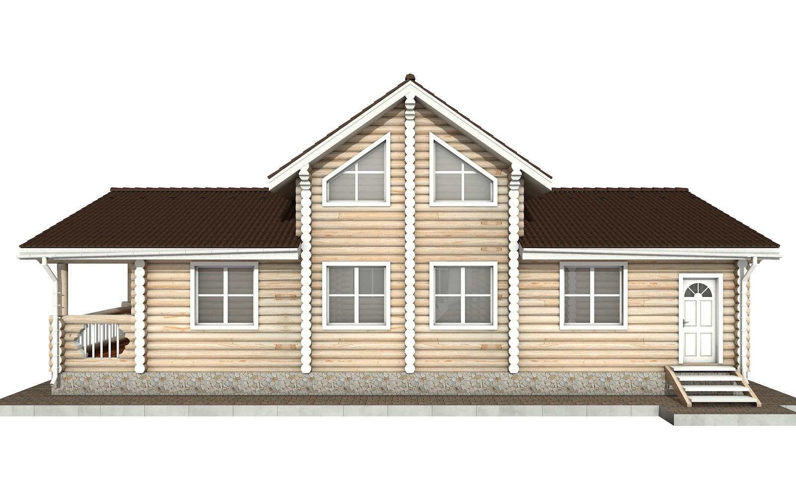 Фото #8: Красивый деревянный дом РС-69 из бревна