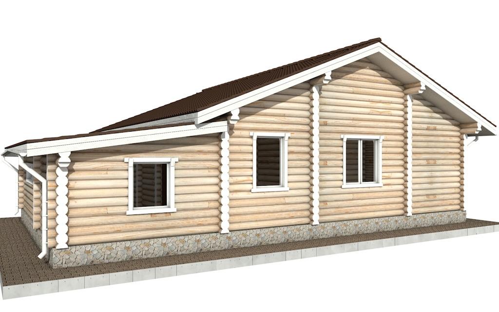 Фото #4: Красивый деревянный дом РС-70 из бревна