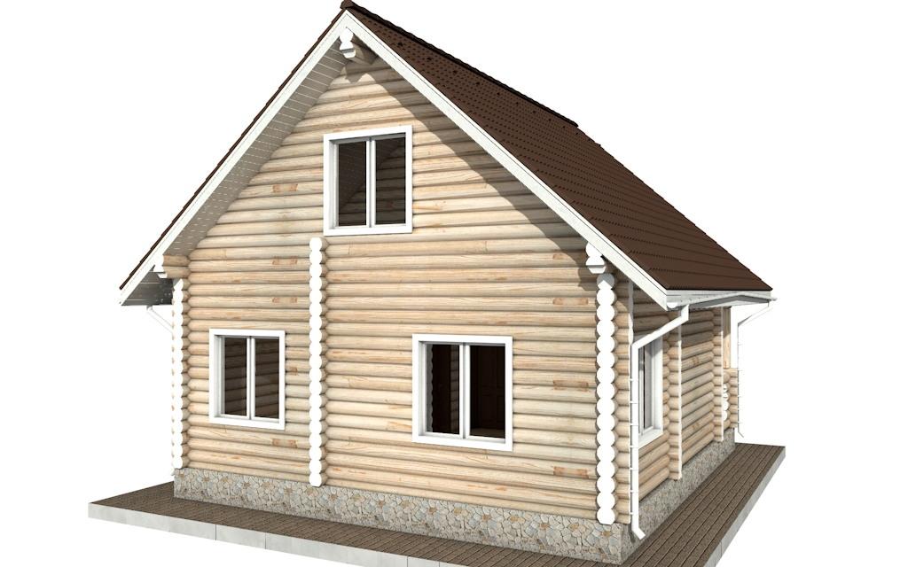 Фото #5: Красивый деревянный дом РС-71 из бревна