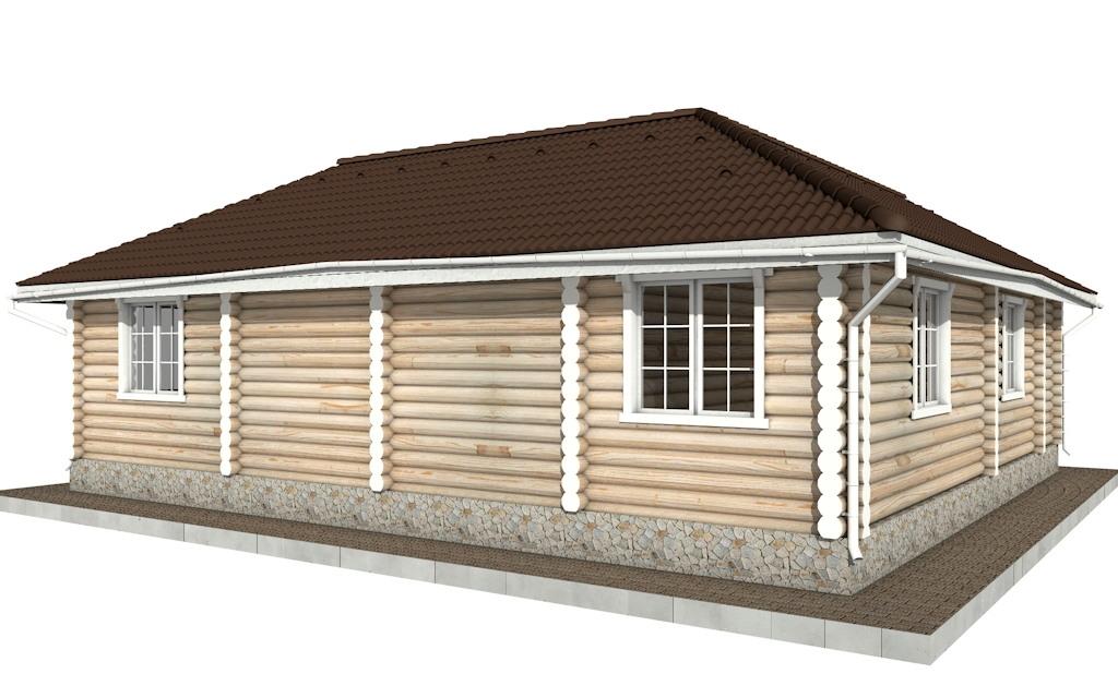 Фото #4: Красивый деревянный дом РС-72 из бревна