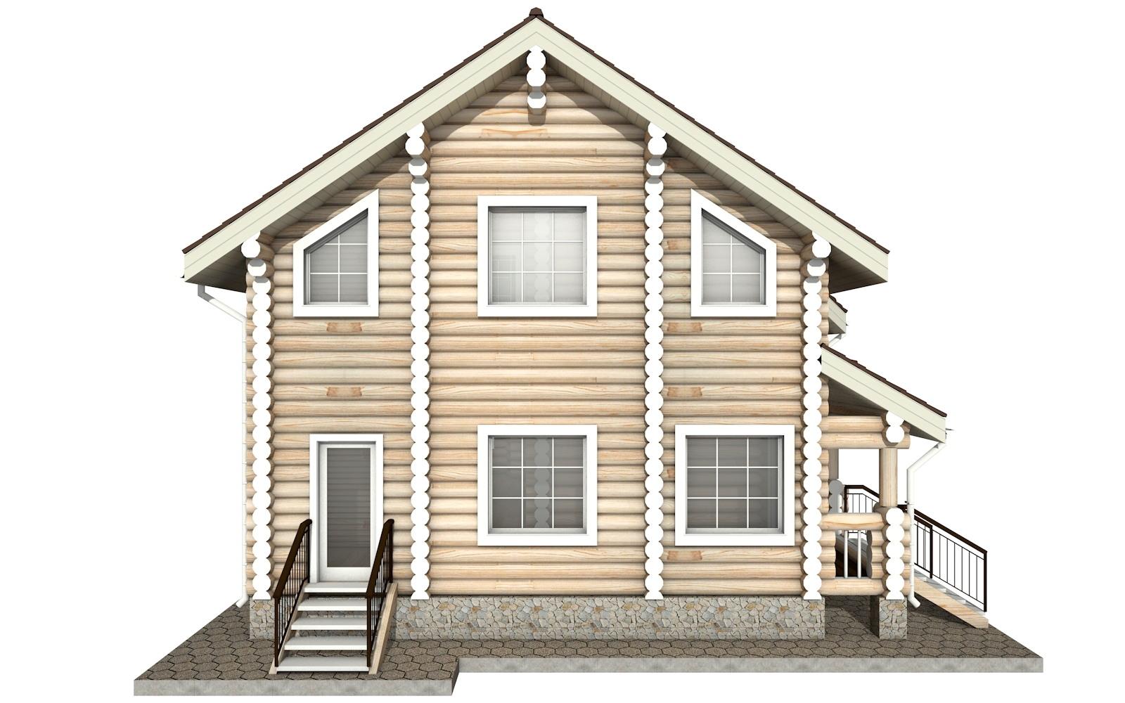 Фото #8: Красивый деревянный дом РС-7 из бревна