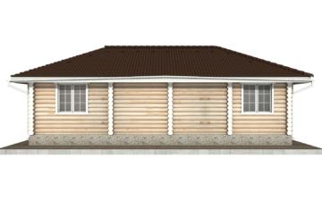 Фото #9: Красивый деревянный дом РС-72 из бревна