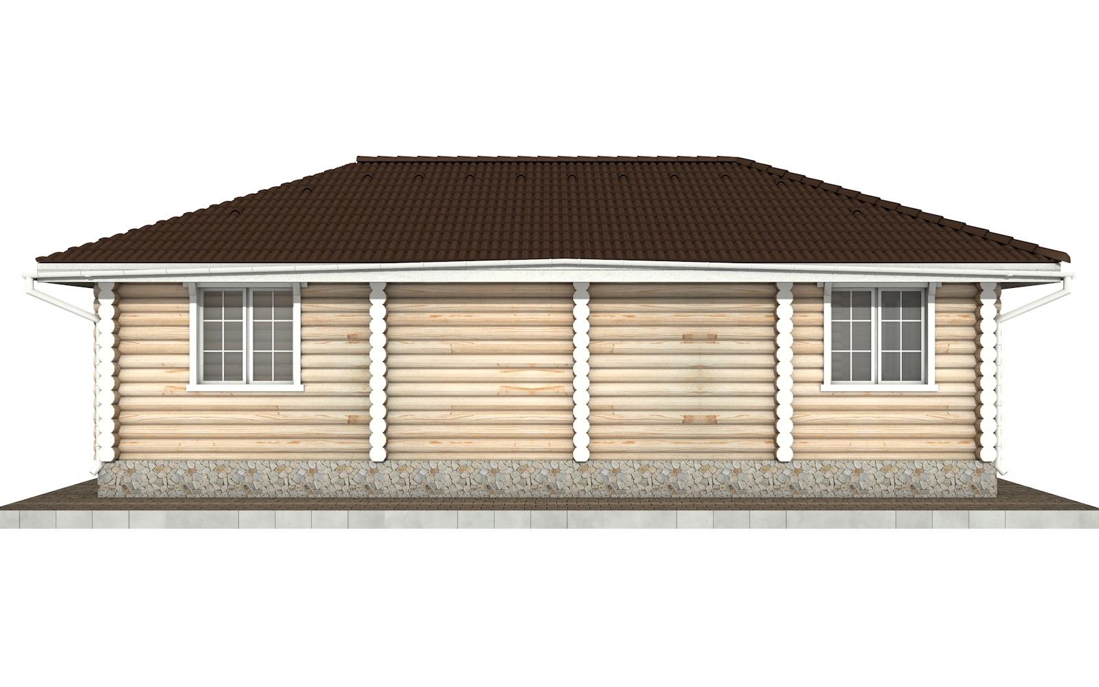 Фото #7: Красивый деревянный дом РС-72 из бревна