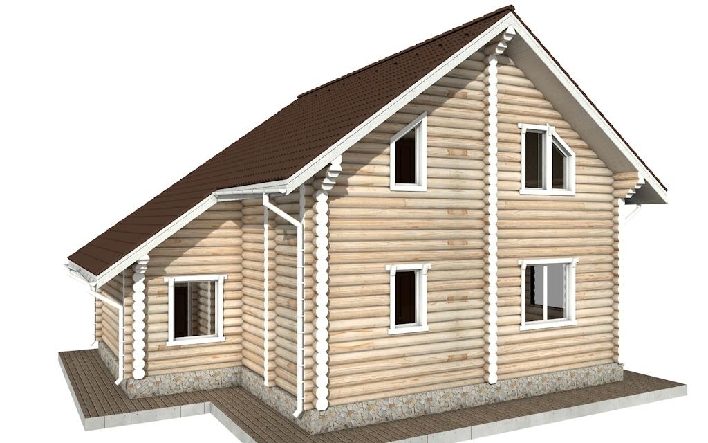 Фото #3: Красивый деревянный дом РС-73 из бревна