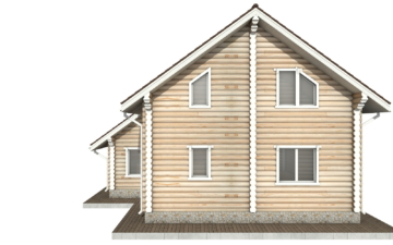 Фото #9: Красивый деревянный дом РС-73 из бревна