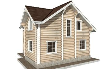 Фото #6: Красивый деревянный дом РС-74 из бревна