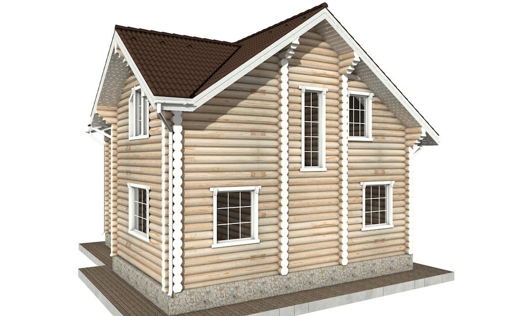 Фото #5: Красивый деревянный дом РС-74 из бревна