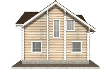 Фото #9: Красивый деревянный дом РС-74 из бревна