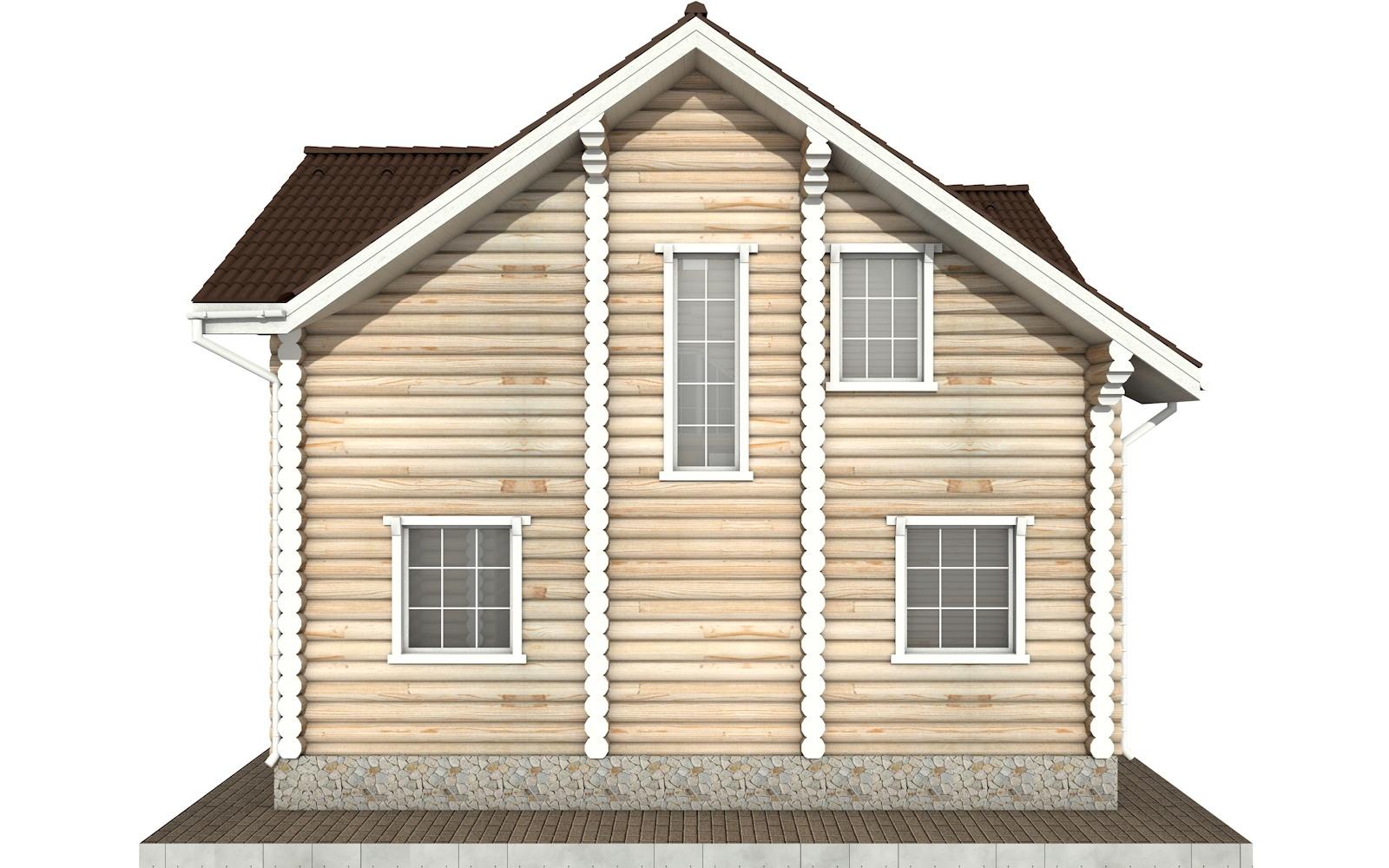 Фото #8: Красивый деревянный дом РС-74 из бревна