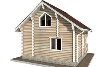 Фото #3: Красивый деревянный дом РС-75 из бревна