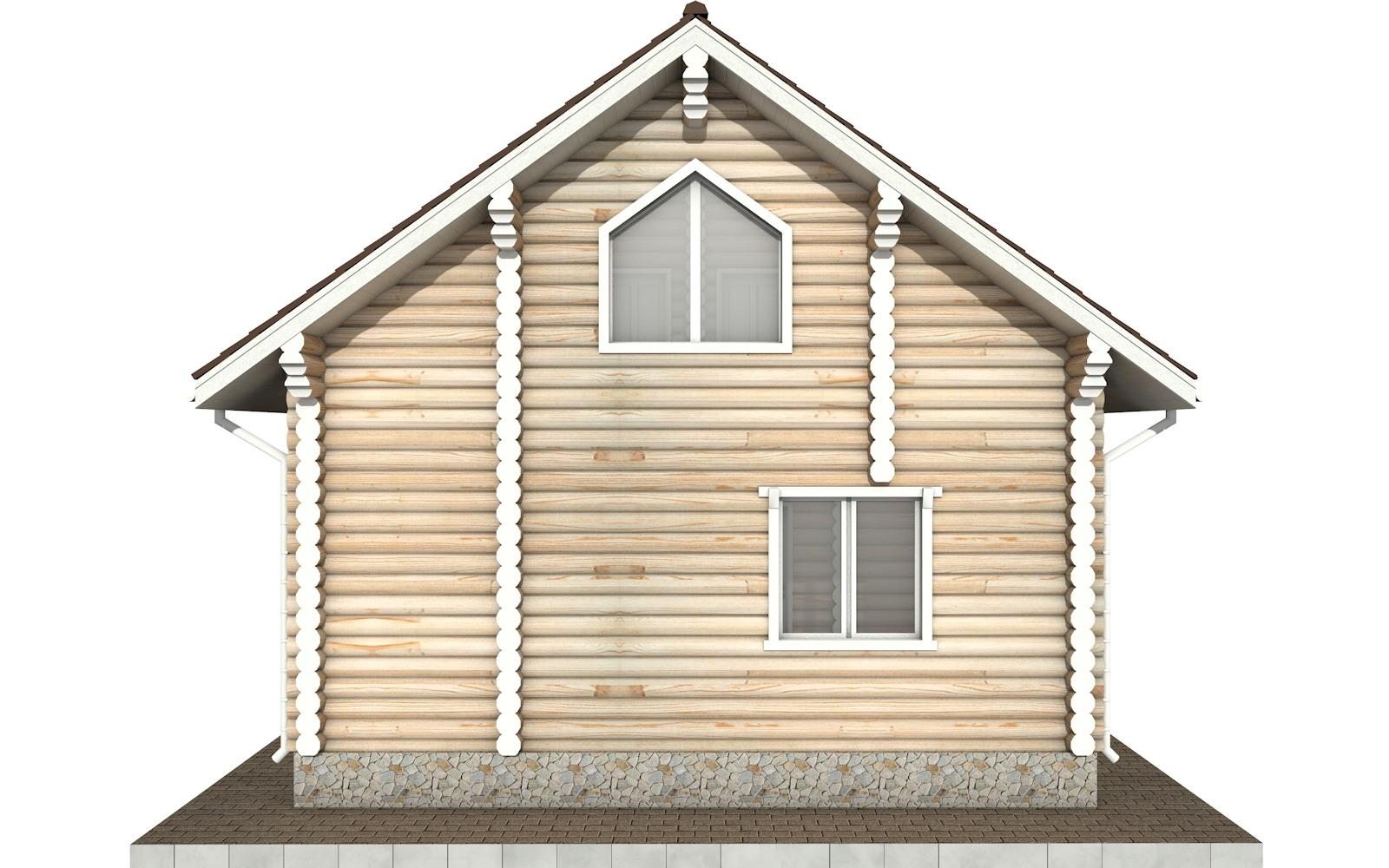 Фото #8: Красивый деревянный дом РС-75 из бревна
