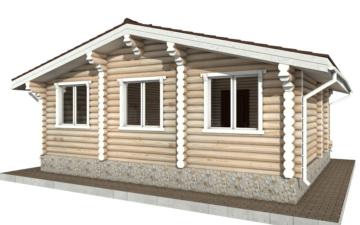 Фото #6: Красивый деревянный дом РС-76 из бревна