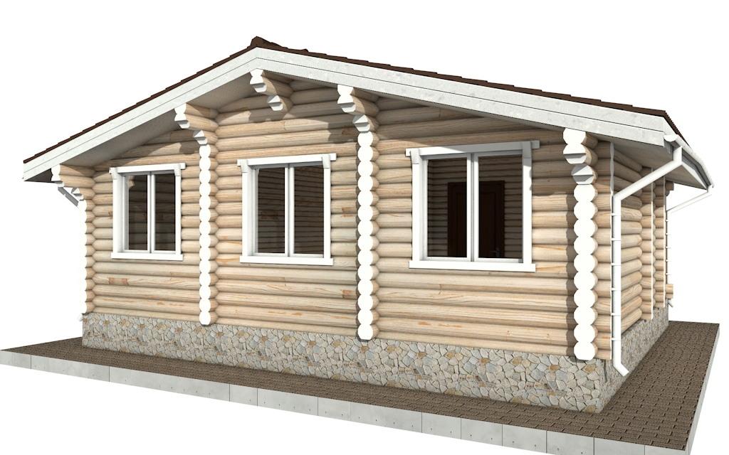 Фото #4: Красивый деревянный дом РС-76 из бревна