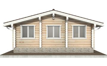 Фото #9: Красивый деревянный дом РС-76 из бревна
